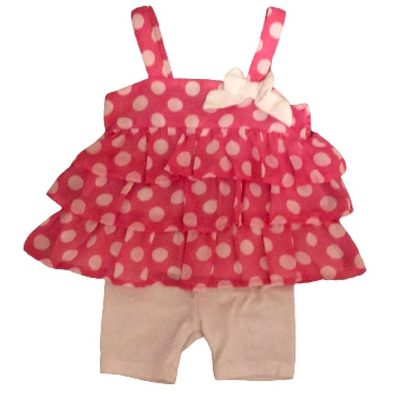 healthtex Other - Bubblegum pink polka dot outfit